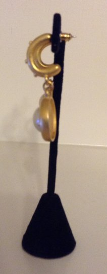 Accessory Lady Gold and Pearl Pierced Earring