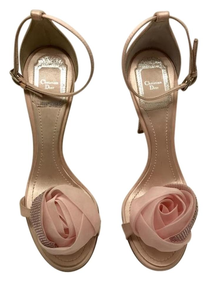 Dior Pink Garden Midnight Garden Pink Open Toe Sandals 874555