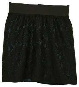 Forever 21 Skirt Black/teal
