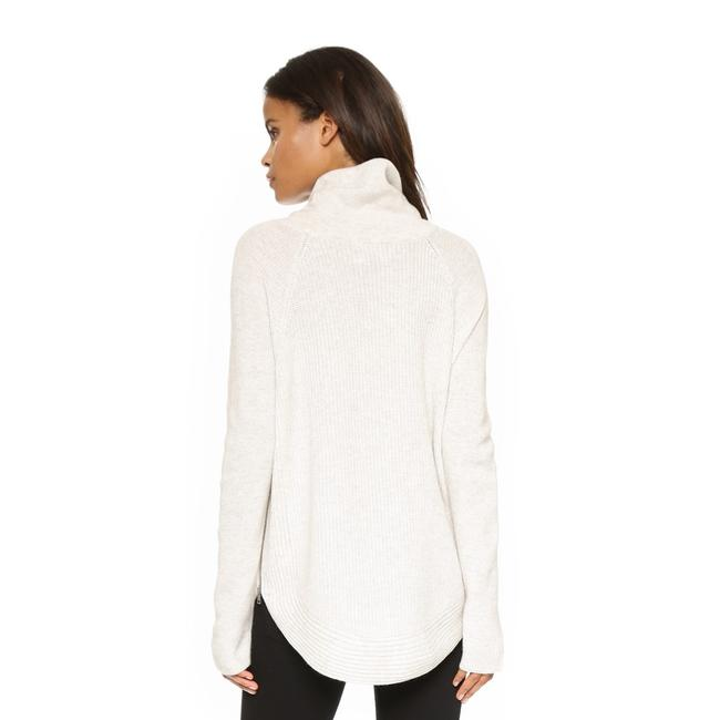 Vince Ribbed Side Zip Turtleneck White Sweater - Tradesy