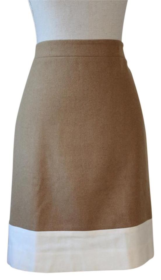 594cf29d1 J.Crew Came and Cream Color Block Skirt Size 8 (M, 29, 30) - Tradesy