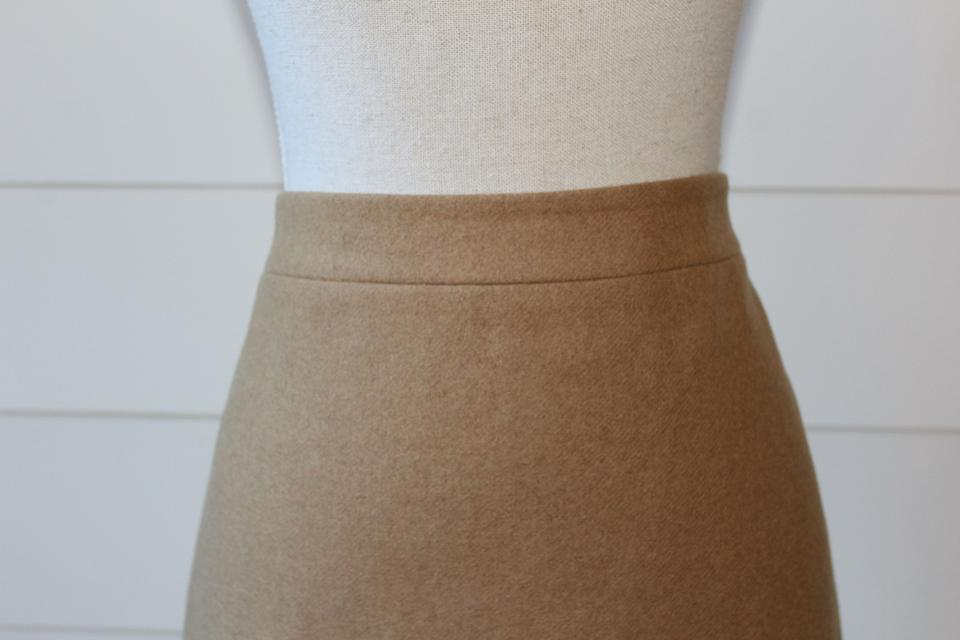 88d2647b3 J.Crew Pencil Office Color-blocking Skirt Came and Cream Color Block Image  2. 123