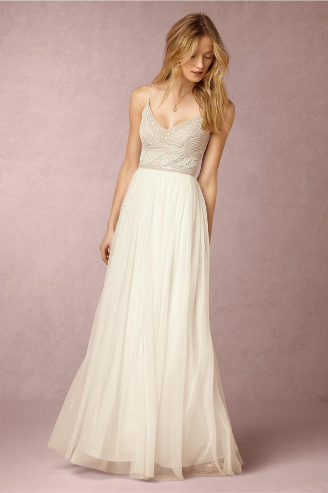 Adrianna Papell Ivory Naya Modern Wedding Dress Size 4 (S) - Tradesy