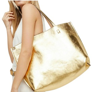 Free People Tote in Gold