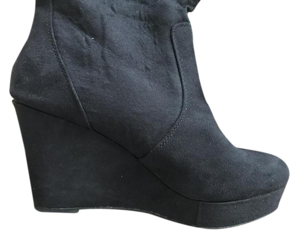 4821ea532f01 Mossimo Supply Co. Black Wedge Boots Booties Size US 10 Regular (M ...