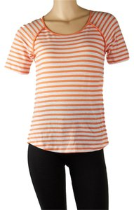 White Mountain T Shirt Orange/White