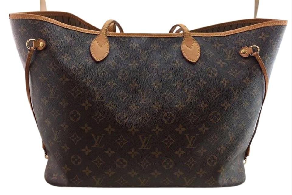 Louis Vuitton Neverfull Gm Largest In Monogram Tote Bag