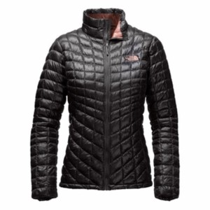 The North Face Women's Thermoball Full Zip in Black in Rose Dawn