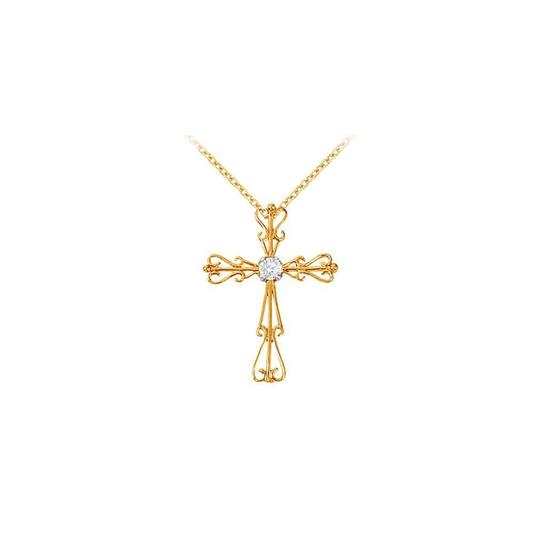 Preload https://img-static.tradesy.com/item/22372662/white-yellow-april-birthstone-cubic-zirconia-cross-pendant-in-gold-vermeil-necklace-0-0-540-540.jpg