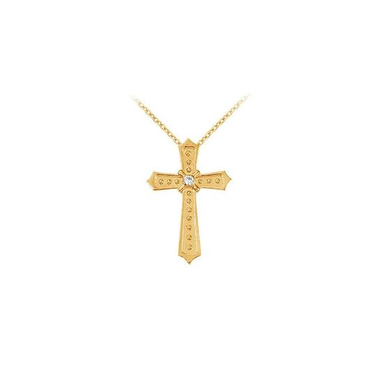 Preload https://img-static.tradesy.com/item/22372875/white-yellow-april-birthstone-cubic-zirconia-cross-pendant-in-silver-gold-vermeil-necklace-0-0-540-540.jpg
