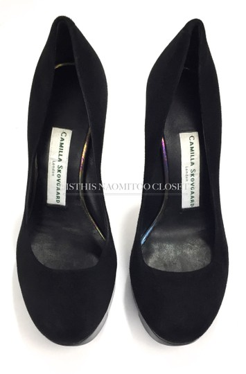 Camilla Skovgaard Club Night Out Date Casual Suede Black Pumps Image 3