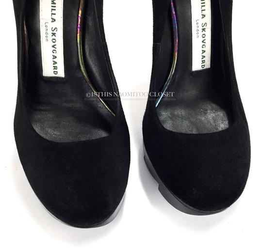 Camilla Skovgaard Club Night Out Date Casual Suede Black Pumps Image 4