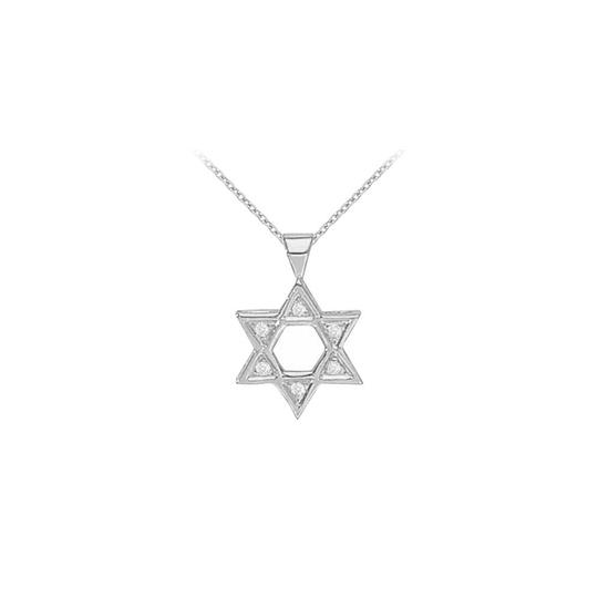 Preload https://img-static.tradesy.com/item/22372970/white-silver-sterling-cubic-zirconia-star-pendant-005-ct-tgw-necklace-0-0-540-540.jpg