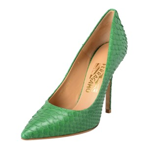 Salvatore Ferragamo Green Pumps