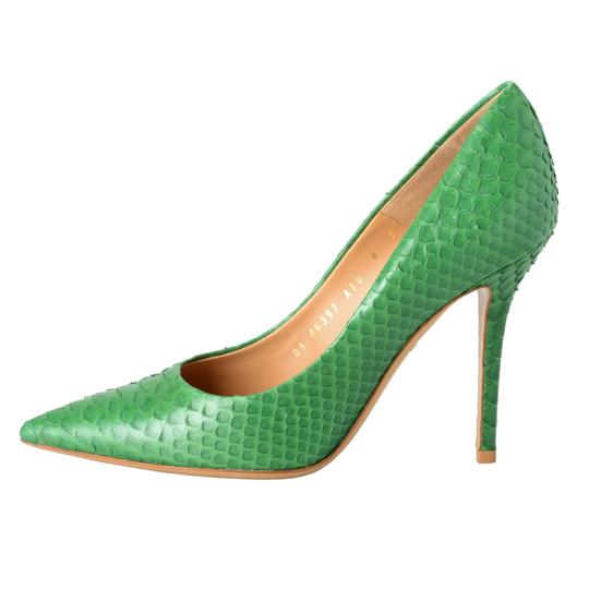 Salvatore Ferragamo Green Pumps Image 1