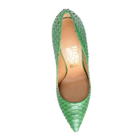 Salvatore Ferragamo Green Pumps Image 3