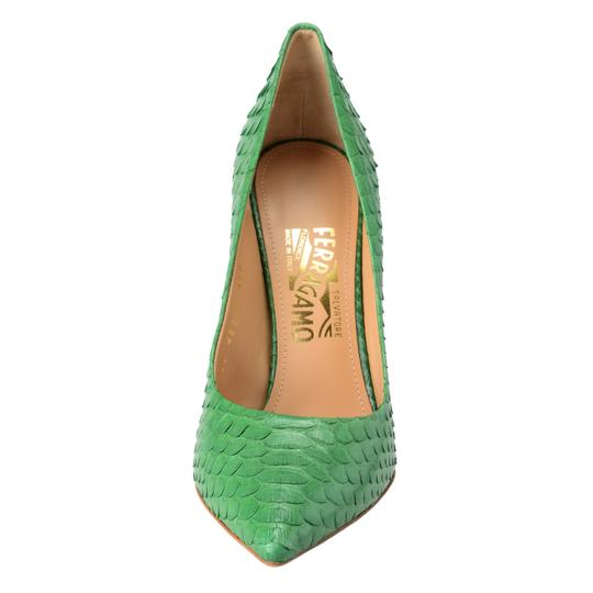 Salvatore Ferragamo Green Pumps Image 5