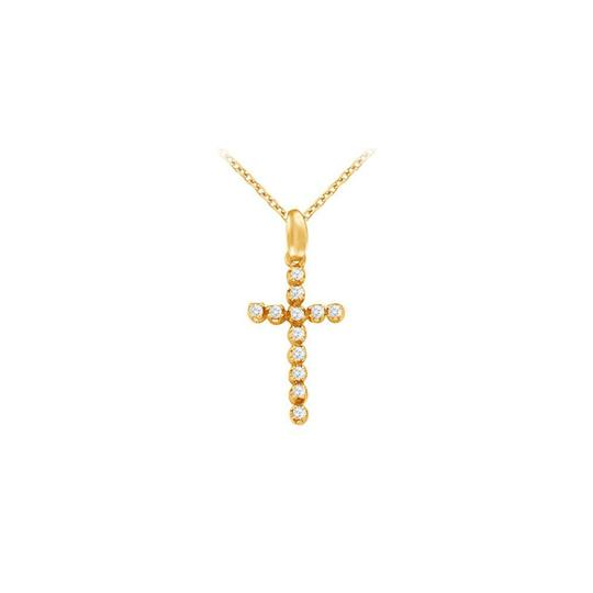 Preload https://img-static.tradesy.com/item/22373329/white-yellow-april-birthstone-cubic-zirconia-cross-pendant-in-silver-gold-vermeil-necklace-0-0-540-540.jpg