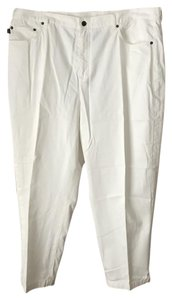 Lauren Jeans Company Logo Plus-size 5-pocket Style Cotton Capri/Cropped Pants White