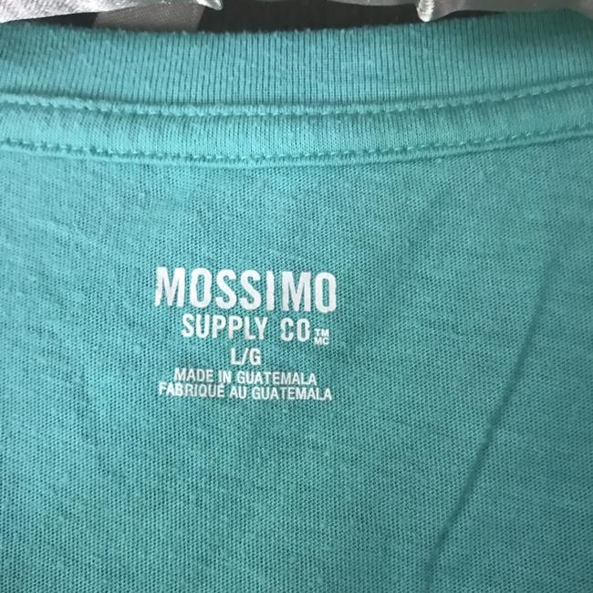 Mossimo Supply Co. Rounded Neckline Sleeve Cotton/Polyester Machine Washable T Shirt Green Image 2