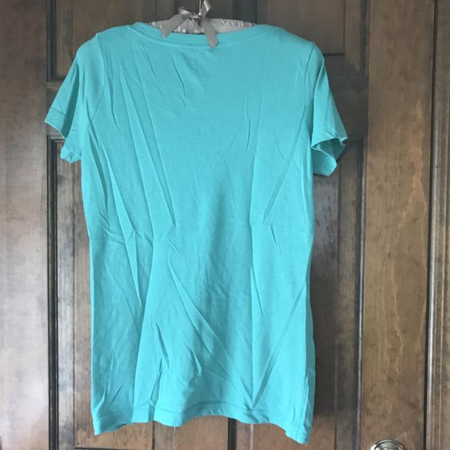 Mossimo Supply Co. Rounded Neckline Sleeve Cotton/Polyester Machine Washable T Shirt Green Image 3