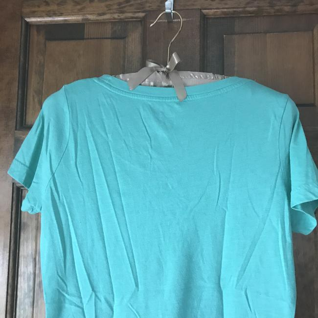 Mossimo Supply Co. Rounded Neckline Sleeve Cotton/Polyester Machine Washable T Shirt Green Image 4
