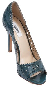 Moschino Teal Pumps