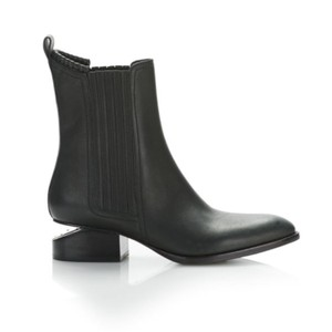 Alexander Wang Black with silver (rhodium) hardware Boots