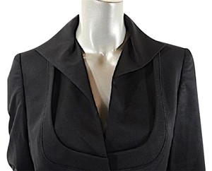 Brioni Fine Virgin Wool Shaped Jacket Black Blazer