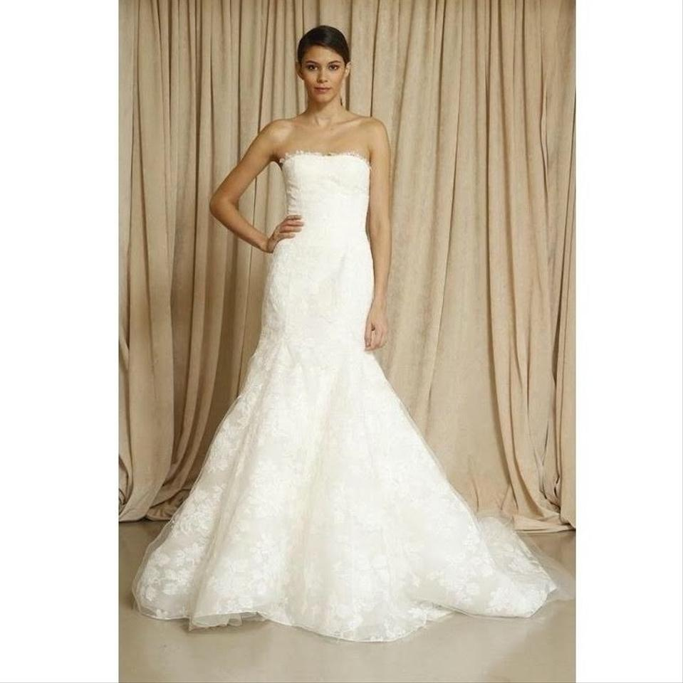 Oscar de la Renta Bridal Ivory Lace Blake Gown Traditional Wedding ...