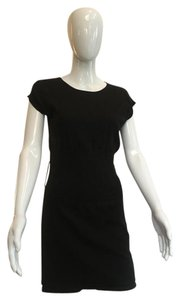 VENUS short dress Black Knit Cap Sleeve Cotton on Tradesy