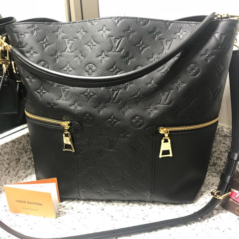 5e20caaa00f0 Louis Vuitton Melie Black Leather Hobo Bag - Tradesy