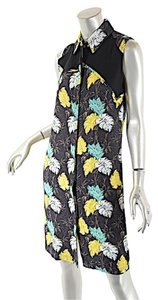 Proenza Schouler short dress Black Multi Color Fauna Print on Tradesy