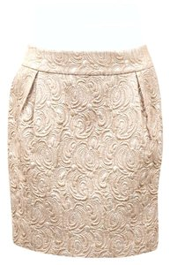Beth Bowley Mini Skirt Metallic beige