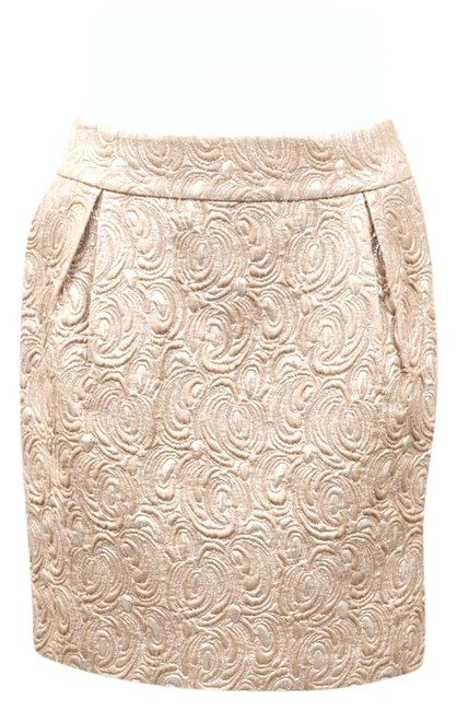 Beth Bowley Mini Skirt Metallic beige Image 0