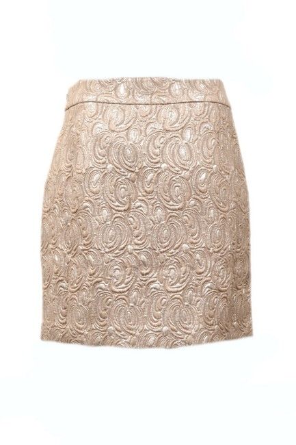 Beth Bowley Mini Skirt Metallic beige Image 1