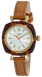 Timex TW2P70000 Women's Brown Leather Band With Silver Analog Dial Watch