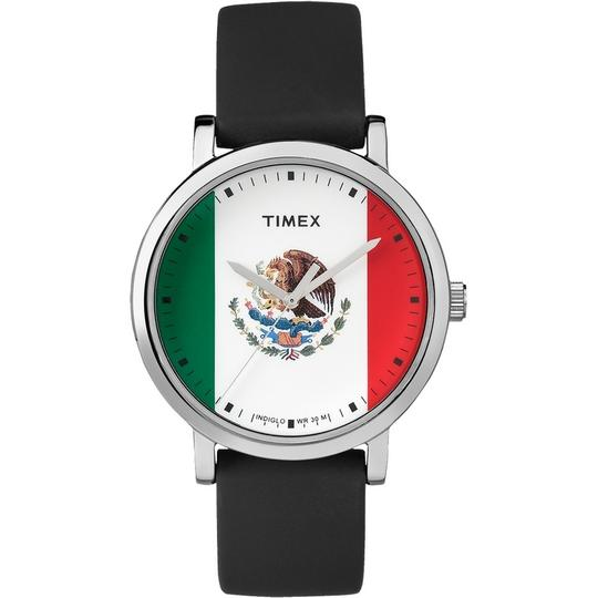 Timex TW2P70400 Unisex Black Silicone Band With White Analog Dial Watch Image 1