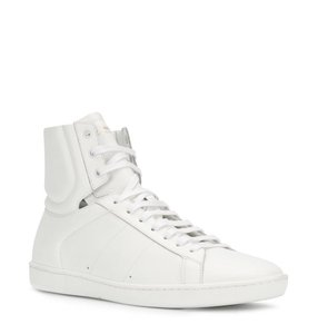 Saint Laurent High Top Fashion Sneaker White Athletic