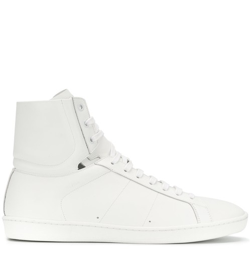Saint Laurent High Top Fashion Sneaker White Athletic Image 1