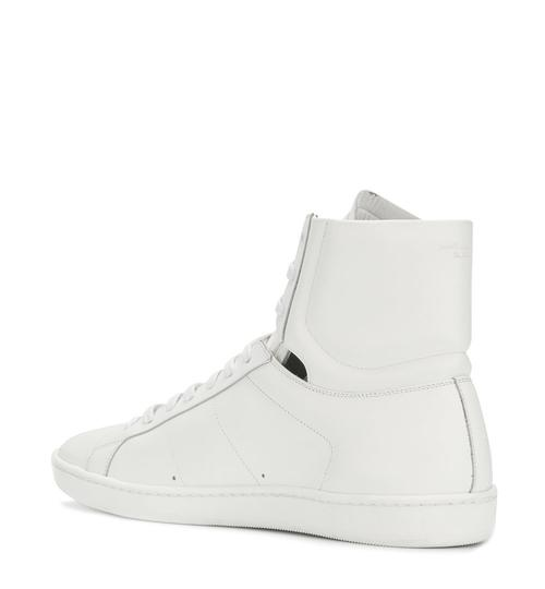 Saint Laurent High Top Fashion Sneaker White Athletic Image 2