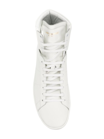Saint Laurent High Top Fashion Sneaker White Athletic Image 3
