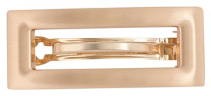 J.Crew j.crew rectangle barrette in brushed metal