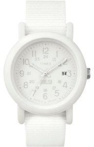 Timex TW2P88200 Camper Unisex White Nylon Band With White Analog Dial