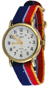 Timex TW2R10100 Weekender Unisex Multi Denim Band With White Analog Dial
