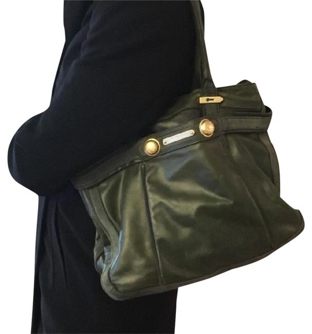 Item - Olive Green Genuine Leather with Suede Trim Hobo Bag