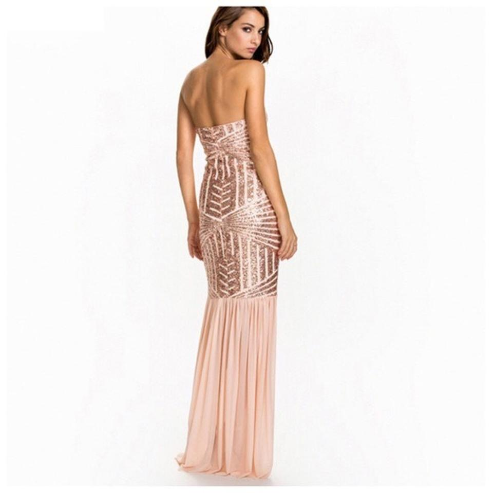 Blush Sequin Strapless Mermaid Ball Gown Medium/ Large Long Formal ...