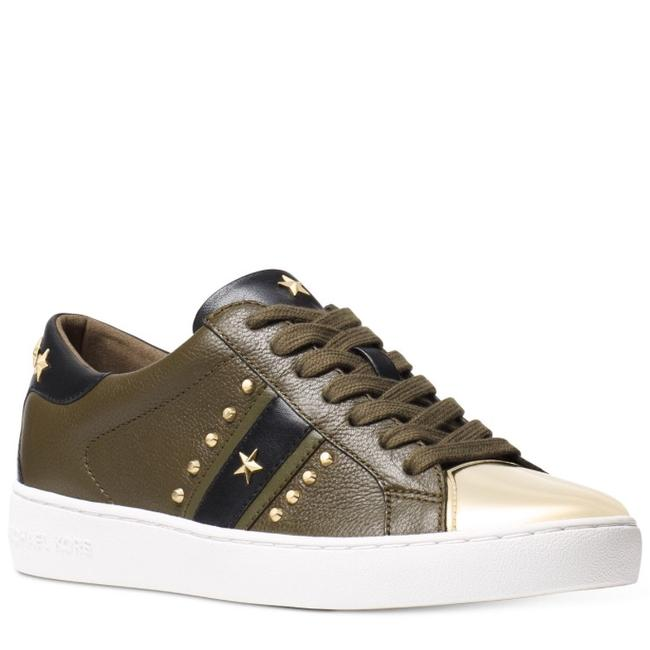 Item - Olive Frankie Leather Sneakers Size US 8 Regular (M, B)
