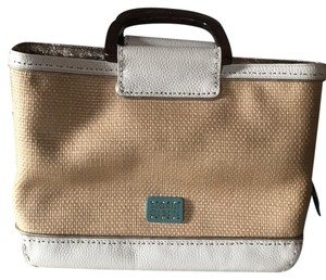 Sigrid Olsen Satchel in tan and ivory