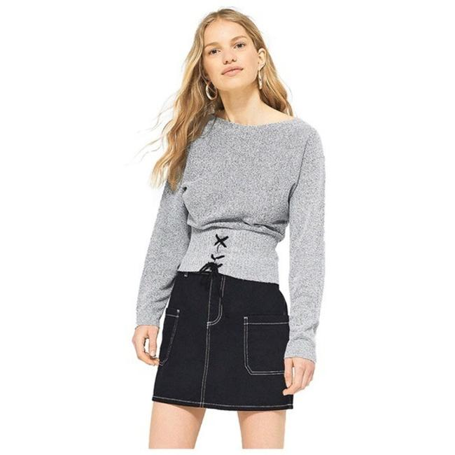 Preload https://img-static.tradesy.com/item/22374368/gray-marled-black-corset-tie-waist-sweaterpullover-size-2-xs-0-1-650-650.jpg